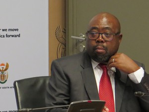 Thulas Nxesi during a post-SONA briefing