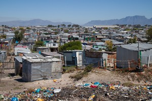 Photo of shacks in Marikana informal settlement