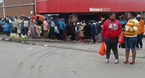 Photo of queue for social grants