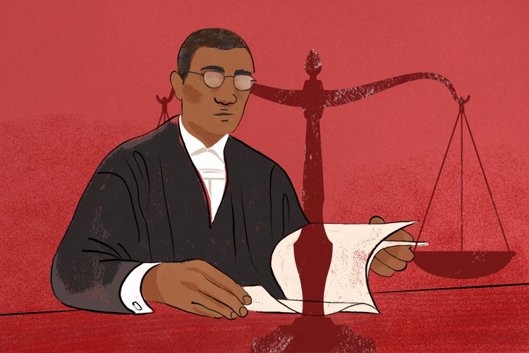Illustration of a judge