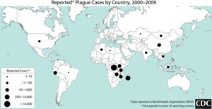 Map of plague cases