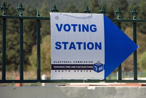 Photo of voting station