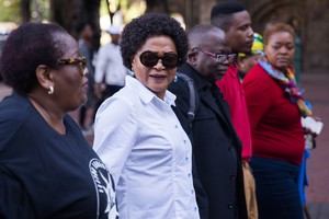 Baleka Mbeta attends march against women abuse