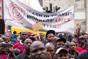 Photo of cash-in-transit protesters