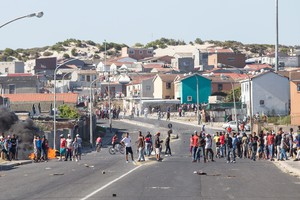 Mitchells Plain residents protests for food parcels