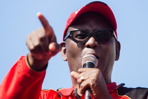 Zwelinzima Vavi attends SAFTU march