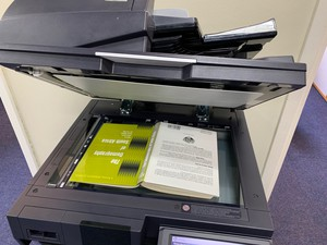 Photo of book in photocopier