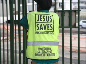 Photo of person working for Jesus Saves programme