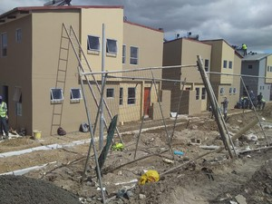 Photo of flats being built in Langa