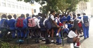 School students protest in Cape Town