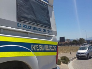 Photo of police van in Khayelitsha